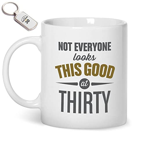 30th Birthday Gift Mug And Key Ring Gifts For Men Women