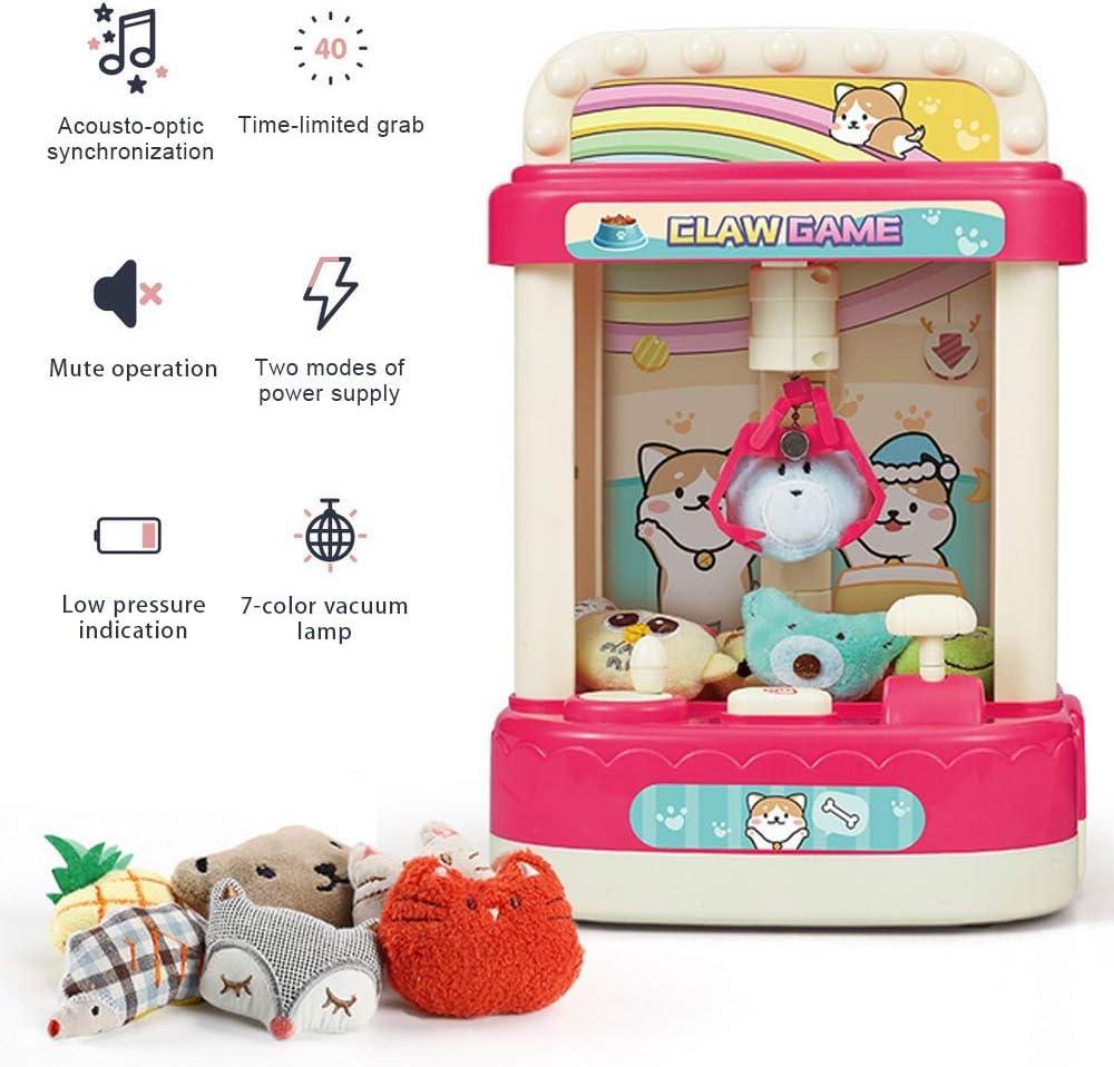 Garra, mini garra, dispensador de máquinas expendedoras de dulces, dispensador de premios máquina expendedora de juguetes Toy Grabber para niños con música, regalos de mejor amigo para niños niñas