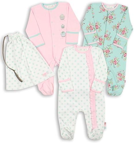 The Essential One - Pijama para bebé - Paquete de 3-12-18 Meses ESS75