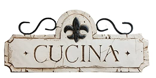 Amazon Italian Cucina Kitchen Decor Sign Home Kitchen Beauteous Decorative Kitchen Signs