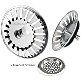 Andrew James Sink Strainer Plugs For Use In Kitchens And