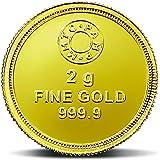 MMTC-PAMP 24k (999.9) Lotus 2 gm Yellow Gold Coin