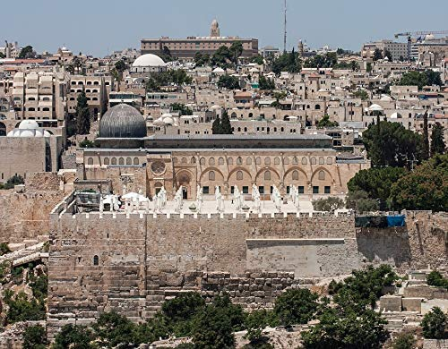 - Home Comforts Canvas Print Israel Temple Al-aqsa Mosque Jerusalem Mosque Vivid Imagery Stretched Canvas 32 x 24