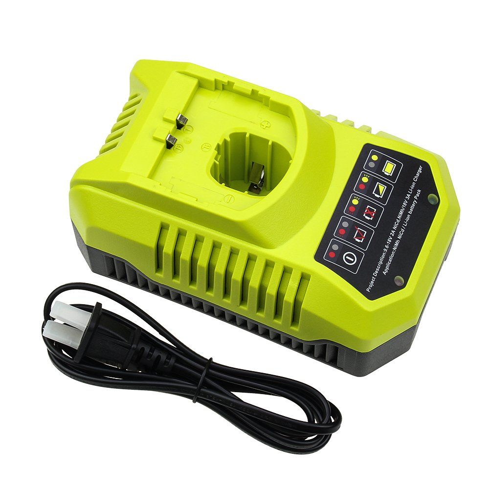 Replace Ryobi Charger for Ryobi 9.6v-18v P102 P105 P107 P117 P113 Charger One+ Dual Chemistry IntelliPort Lithium Ion and NiCad
