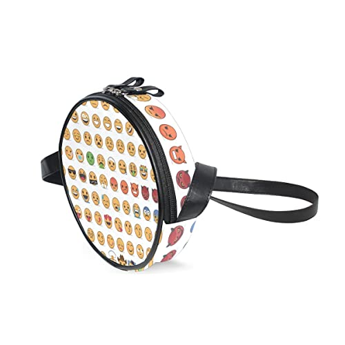 Amazon.com: Bolso para niñas con emoticono de emoticono y ...