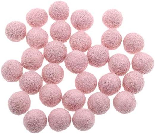 New Handmade Available In 60 Colours Felt Balls 3cm Lolly Green Felt Balls