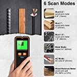 Veken Stud Finder Wall Scanner with Moisture Meter, 6 In 1 Electronic Wall Detector For Studs, Metal, Wood, Live AC Wire, Professional Water Leak Detector with Temperature Measurement Mode