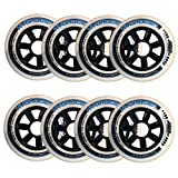 Black Diamond Sports X Rollerblade 100mm / 85A Hydrogen Wheels - 8 Pack