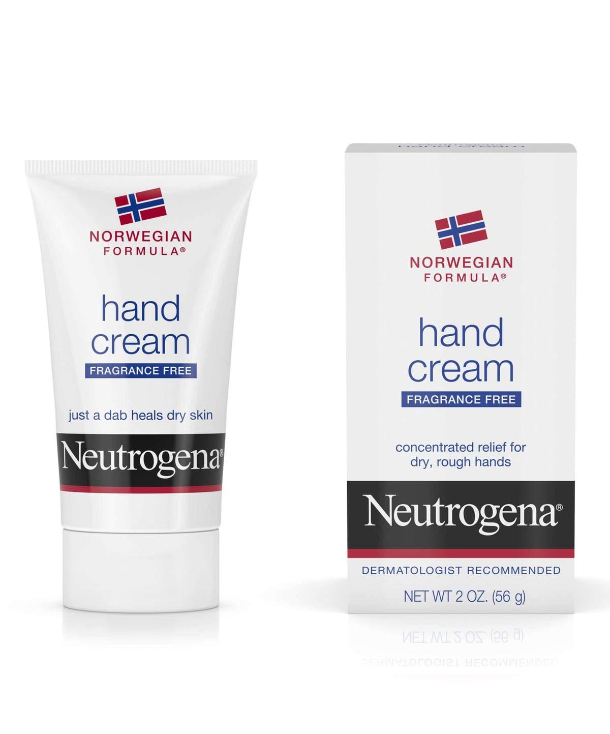 Neutrogena Norwegian Formula Moisturizing Hand Cream Formulated with Glycerin for Dry, Rough Hands, Fragrance-Free Intensive Hand Cream, 2 oz (Pack of 3) by Neutrogena