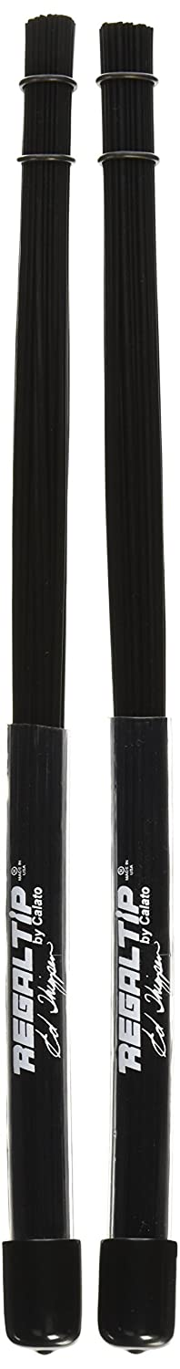 Regal Tip BR-594P Ed Thigpen Plastic Brushes Black Poly-Rod Brush in Clear Heavy-Duty Handle-Single Pair
