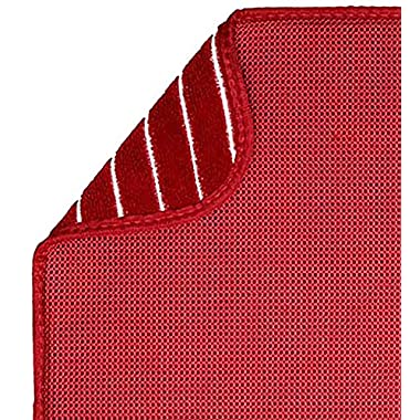 S&T 463700 Microfiber Dish Drying Mat Mesh, X-Large, 18 by 24-Inch, Red