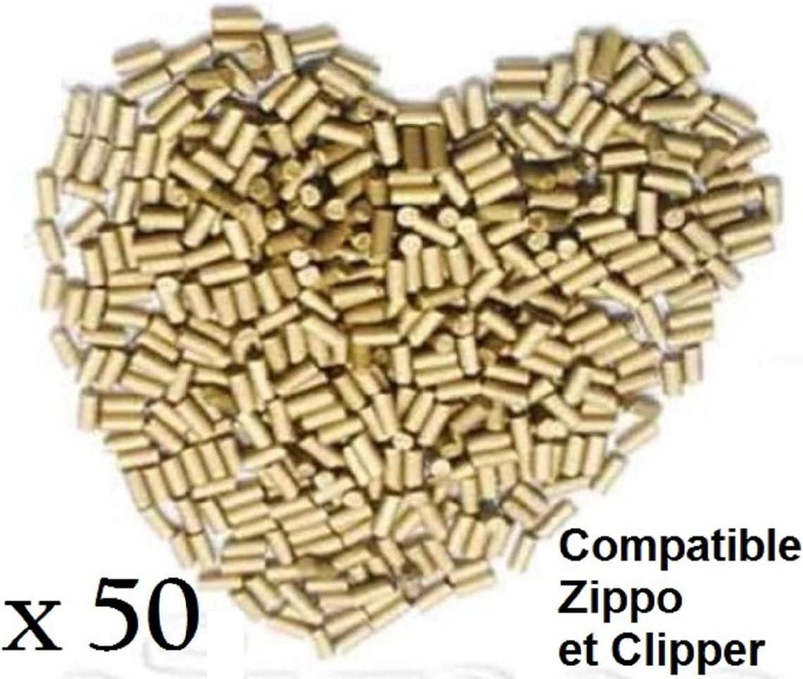 Jefriz – Lote de 50 piedras para mechero de alta calidad Silex compatibles con clipper y Zippos