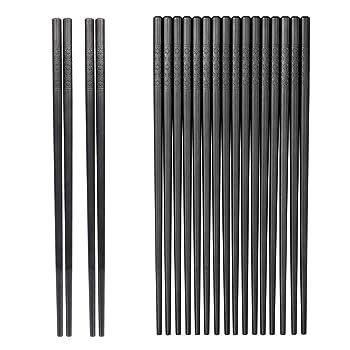 Jsdon 10-Pair Fiberglass Reusable Chopsticks