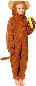 Charlie Crow Cheeky Monkey Costume for Kids 5-7 Years Brown