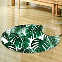 Round Area Rug tropical palm leaves jungle leaves seamless vector floral pattern background Indoor/Outdoor Round Area Rug -Round 24