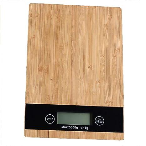 Balanzas Electrónicas Básculas De Cocina De Alta Precisión Paneles De Bambú Hogar Balanzas