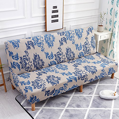DaJun Junda Sofa Cover Folding Armless Sofa Cover Couch Slipcover Furniture Protector Cover Couch Bed Futon Cover Washable (Type P)