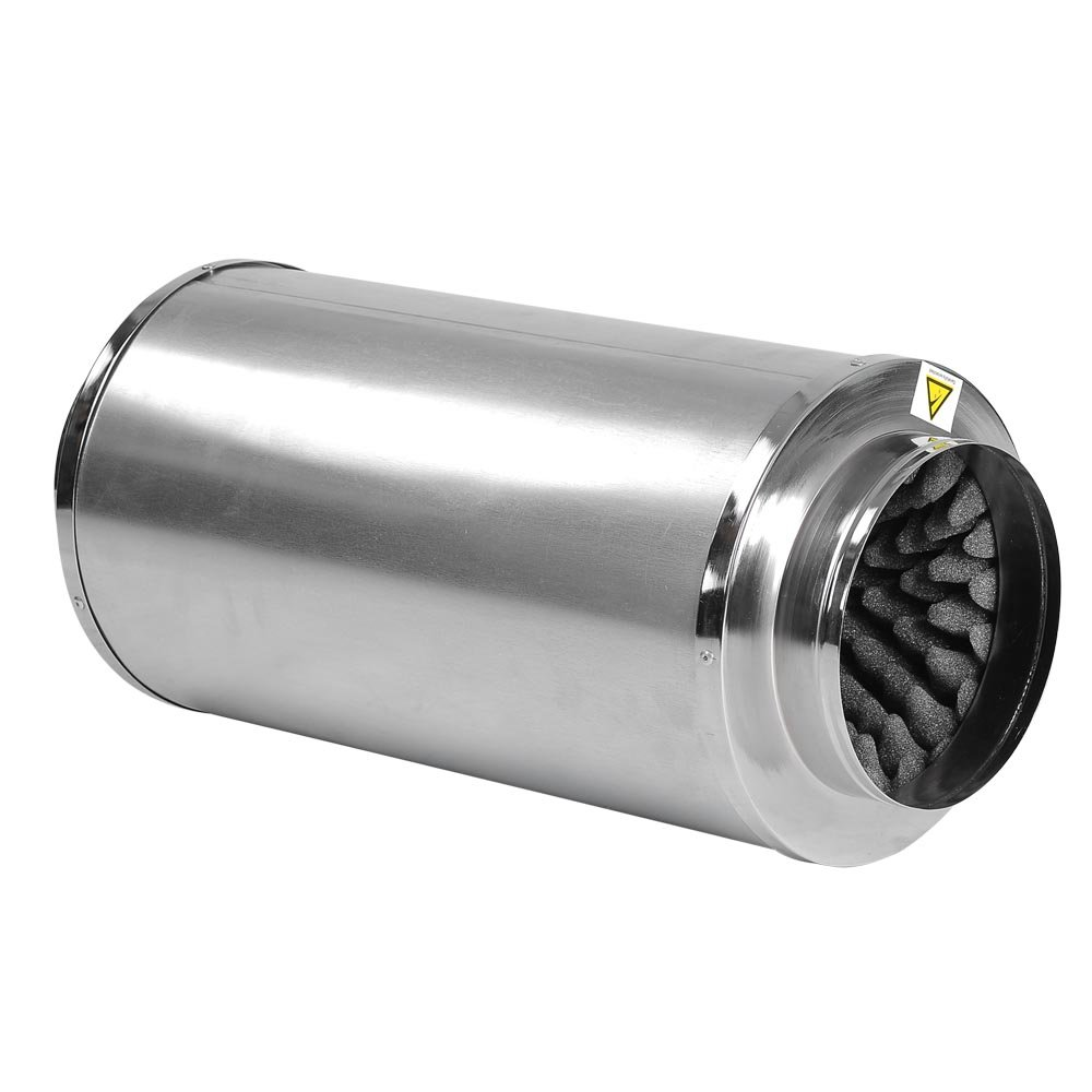 Yescom Hydroponics 8'' Inline Fan Blower Silencer Duct Muffler Noise Reducer fit Grow Light System by Yescom