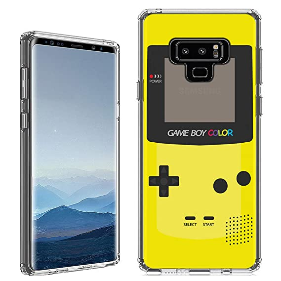 Amazon.com: Galaxy Note 9 Case [Yellow Gameboy](Clear ...