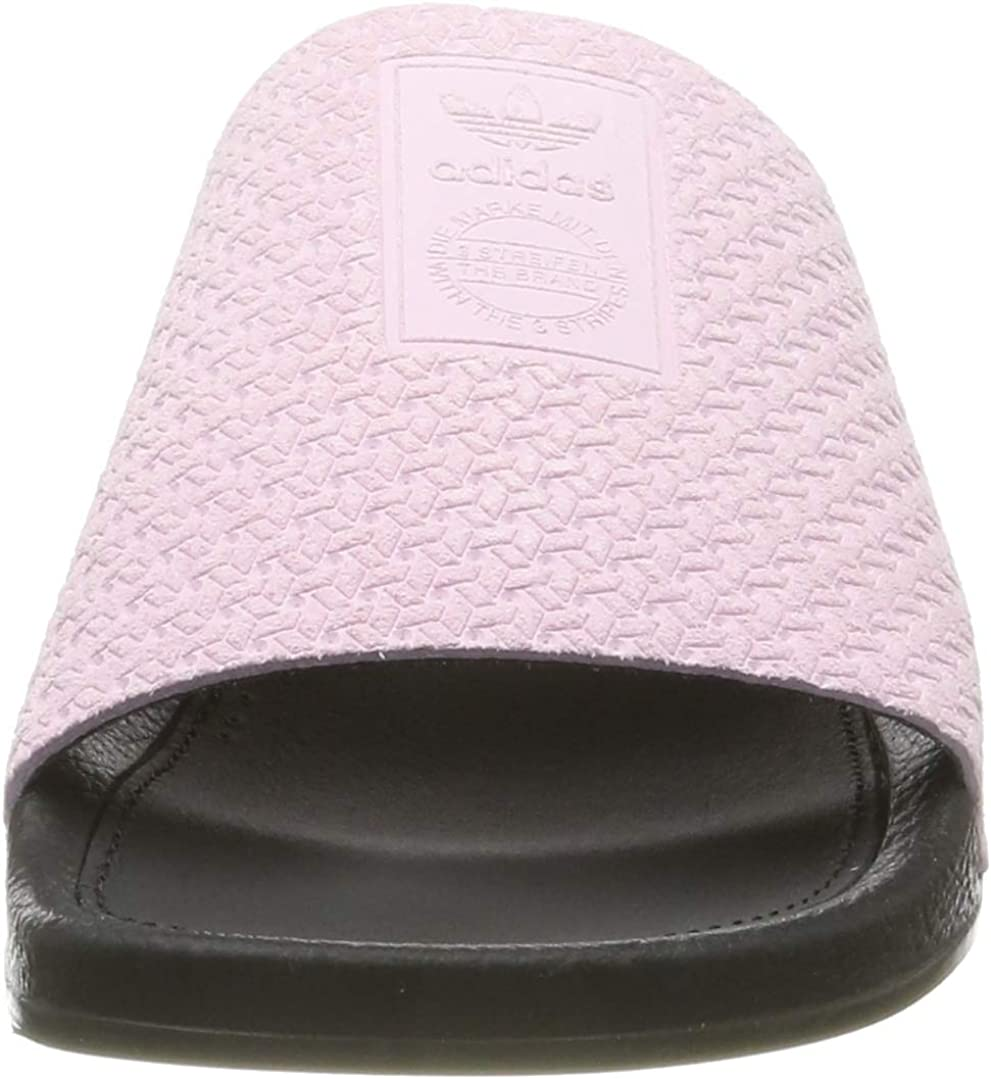 adidas Adilette Luxe W, Zapatos de Playa y Piscina para Mujer Rosa Clear Pink Core Black Gold Met Clear Pink Core Black Gold Met