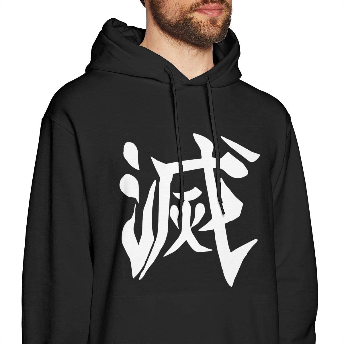 LIAM HENDERSON Demon Slayer Sweatshirts for Men Hoodies Black