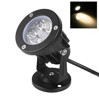 Bloomwin Projecteur Led Jardin Exterieur 5w 500lm Ip65 220v Base Lampe Projecteur Spot Orientable Lumiere Eclairage Exterieur Pour Jardin Cour