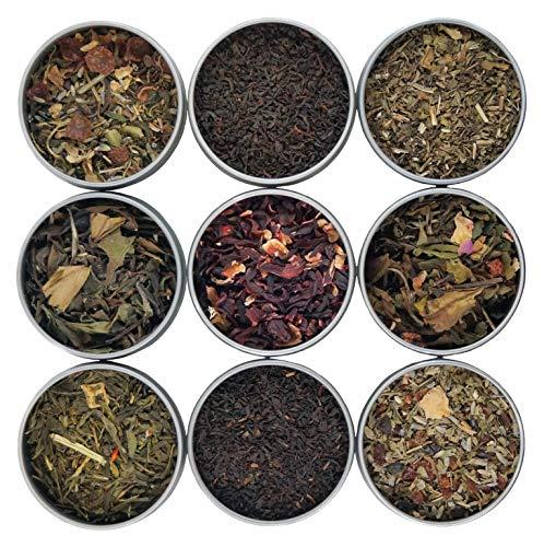 (Heavenly Tea Leaves Kosher Tea Sampler Set, 9 Kosher & Organic Loose Leaf Teas)