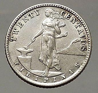 1944 1944 D Philippines Twenty Centavos United States Coin Good At
