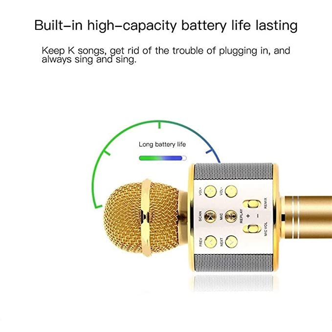 DSAEFG Altavoz Bluetooth Bluetooth KTV micrófono inalámbrico de ...