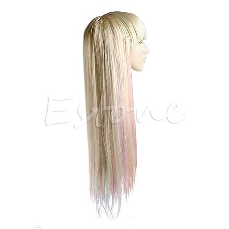 Amazon.com: kocome Long Straight Colorful Rubio Pastel ...