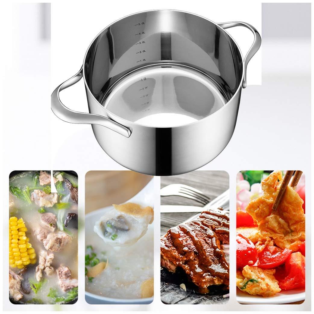 Olla de Sopa Olla de Acero Inoxidable Olla de Cocina de inducción de ...