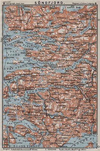 Amazon Com Sogn Og Fjordane Sondfjord Sondfjord Floro Topo Map