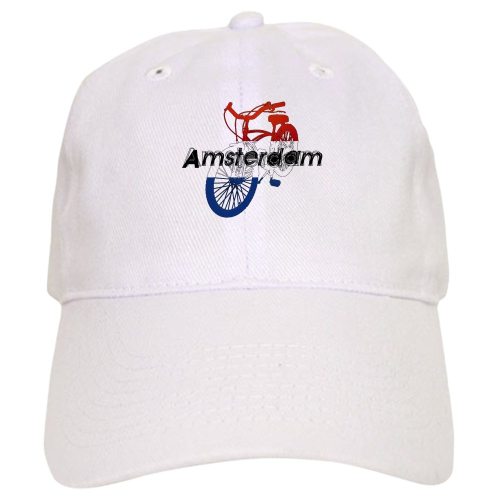 a101a5d345d Amazon.com  CafePress - Amsterdam Bicycle - Baseball Cap with Adjustable  Closure