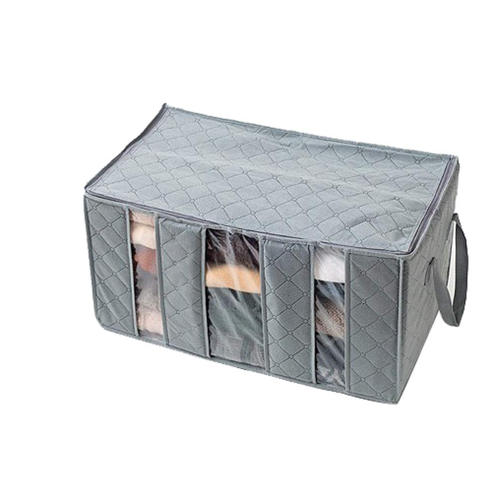 Loneflash Large Storage Boxes, Foldable Storage Clothes Sweaters Blankets Closet Organizer Storage Bag Cubes Bin Box Containers for Home, Office, Nursery, Closet, Bedroom, Living Room (Gray)