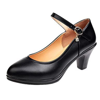 289aa75e3af78 Amazon.com: Claystyle Women's Dress Pump Round Head Low Heel Shoes ...