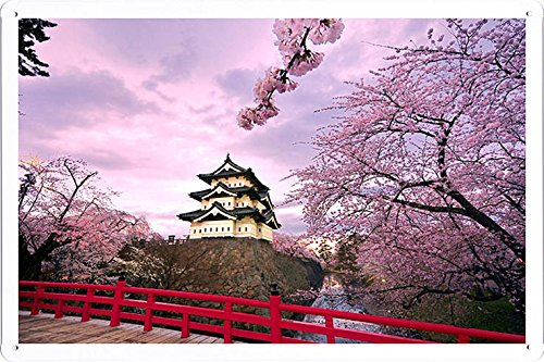 Planet Scene Poster - Cherry Blossoms Japan 2 Tin Sign (8