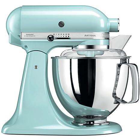 Superbe KitchenAid Artisan 5KSM175PSEIC 5 Qt.Stand Mixer Ice Blue With TWO Bowls U0026  Flex Edge