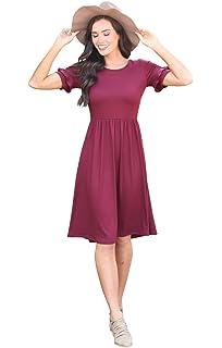 66456a14bfa4 Mikarose Women's Naomi Bell Sleeve Modest Dress at Amazon Women's ...