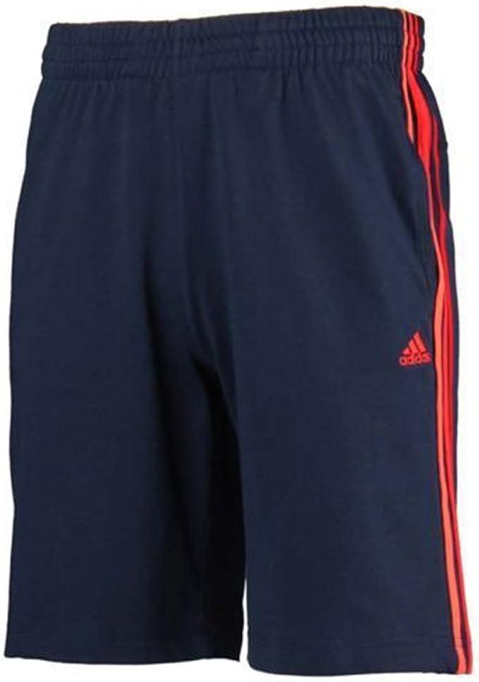 Adidas Originals Hombre HSJ Climalite Algodón Gimnasio Ejercicio Retro Informales Pantalón Corto - algodón, azul marino / rojo, 100% algodón, Hombre, Large: Amazon.es: Deportes y aire libre