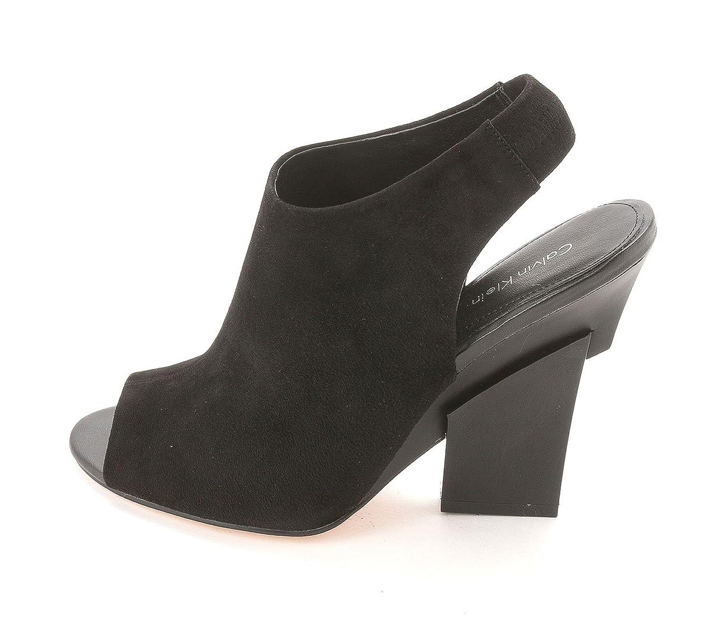 Calvin Klein Womens Gilliane Peep Toe SlingBack Clogs