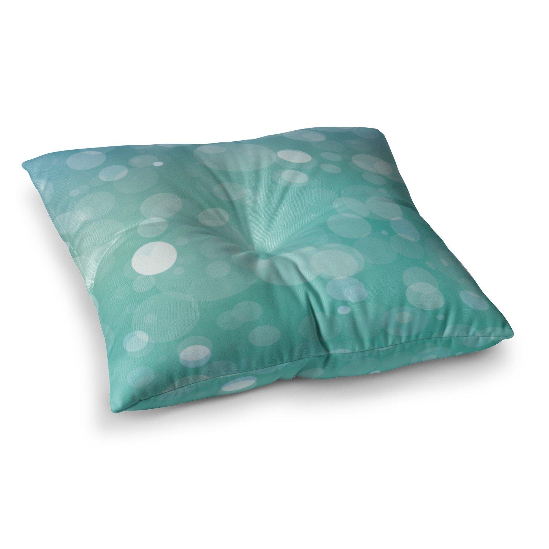 Kess InHouse Kess Original Let It Go Aqua Bokeh, 23' x 23' Square Floor Pillow