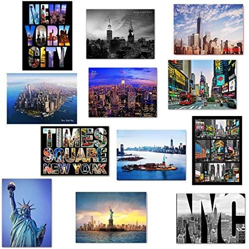 "NEW Various NYC New York Collectible Photo Postcards 5"" x 7"" (5X7_Postcard, SetA)"