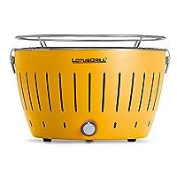 Lotusgrill Lotusgrill klein Edelstahl Stahl Kunststoff gelb BBQ-Lotus Camping Balkon Picknick ✔ rund ✔ tragbar rauchfrei ✔ Grillen mit Holzkohle ✔ für den Tisch