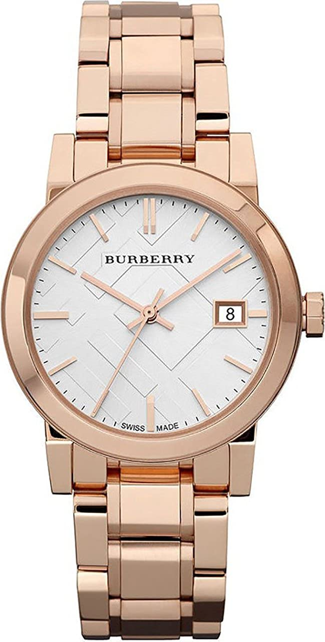 89ee759a5 Amazon.com: Burberry Women's BU9104 Heritage Rose Gold-Plated Stainless  Steel Watch: BURBERRY: Watches