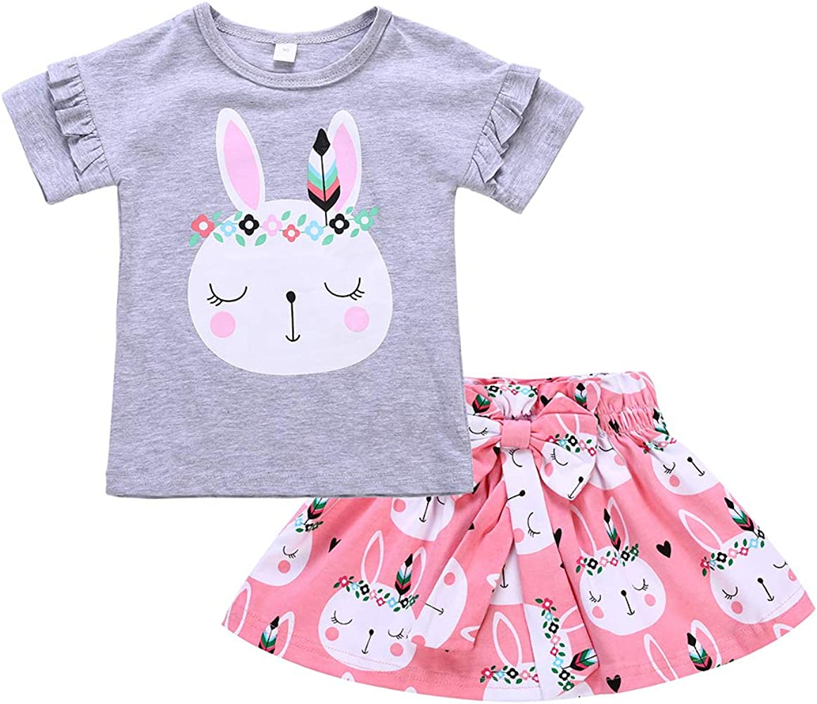 1b0c671b72836 Toddler Baby Girls Dress Kid Baby Girl Easter Skirt Outfit Set Baby Rabbit  Bodysuits + Bunny