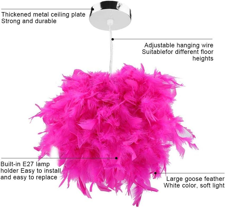 Pink, M Riuty L/ámpara de Techo Feather L/ámpara Colgante Droplight L/ámpara de suspensi/ón