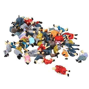 Set 50Pcs Figuren Reisende Passanten Menschen Modell Figuren Skala 1:42