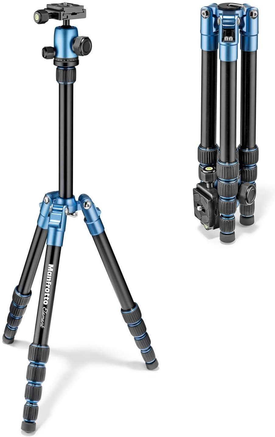 Carga 8 kg CSC Manfrotto Element MKELMII4BMB-BH MII Mobile Bluetooth Bolsa Zapata Comp Tr/ípode Viaje en Aluminio para DSLR compactas y m/óvil con Arca