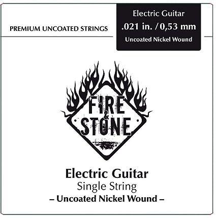 Fire&Stone Cuerdas para guitarra elŽctrica Cuerda individual Entorchado niquel .058in./1,