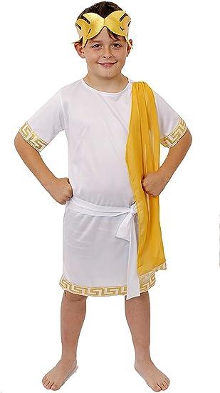 Disfraz DE Romano para NIÑOS con Faja Y Corona Dorada - Dios ...